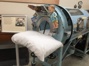 Iron lung on display in the Carriage House at The Country Doctor's Museum. Photo: Kay Whatley