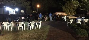 Southern Q food truck, seating area, and food-and-beverage tent during Twilight at the Museum event. Photo: Kay Whatley