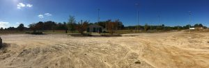 Panorama of Pilot Lions Park ballfields. Photo: Kay Whatley