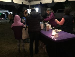 Hot cider station at Moonlight in the Garden. Photo: Kay Whatley
