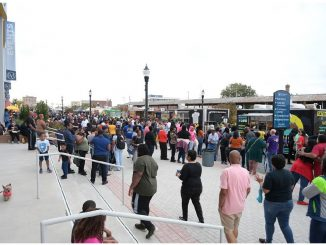 Crowd at the first-ever Food Truck Invasion. Source: Jessie Nunery, City of Rocky Mount