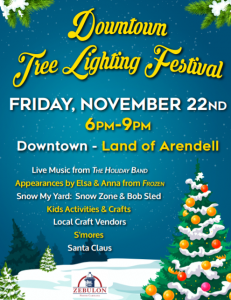 Tree Lighting Festival 2019, Zebulon, NC. Source: Hannah Blische, Zebulon Parks and Recreation