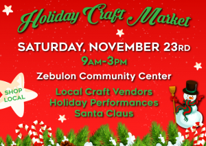 Holiday Craft Market 2019, Zebulon, NC. Source: Hannah Blische, Zebulon Parks and Recreation