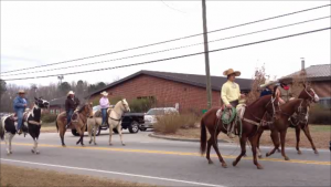 Horses in the Bunn, NC Christmas Parade December 14, 2013. Photo: Frank Whatley
