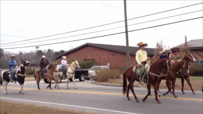 Horses in the Bunn, NC Christmas Parade December 14, 2013. Photo: Frank Whatley