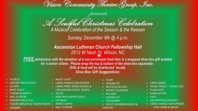 A Soulful Christmas Celebration 2019. Source: Vision Community Theatre Group, Inc.