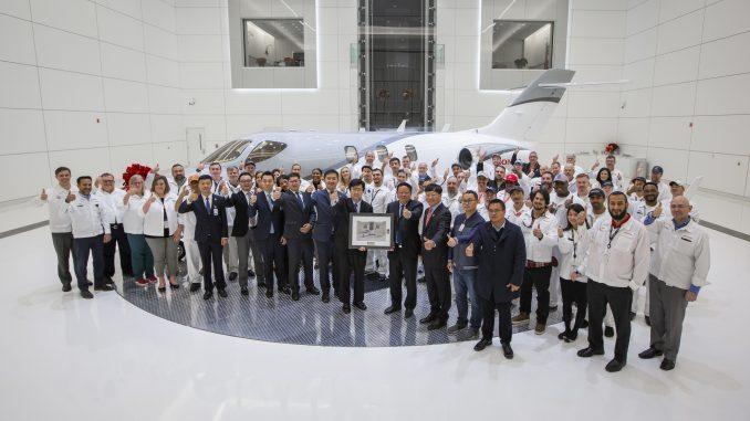 HondaJet delivered. Source: PRNewsfoto Honda Aircraft Company