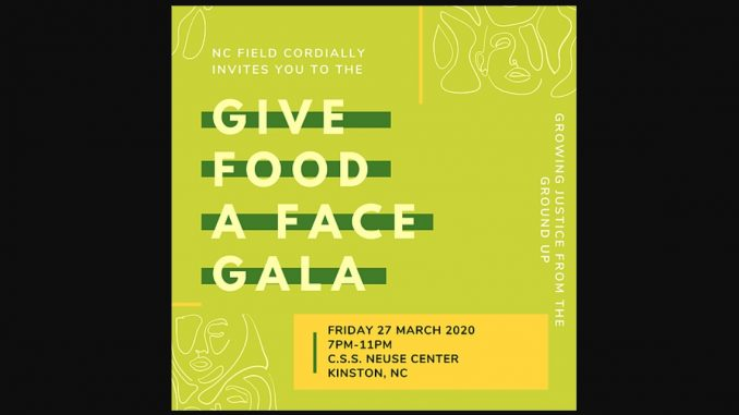 Give Food A Face Gala 2020. Source: NC FIELD, Kinston, NC