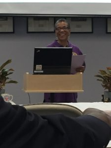 Joyce Edwards Dantzler speaking at the Rocky Mount Railroad Museum annual meeting on January 11, 2020. Photo: Kay Whatley