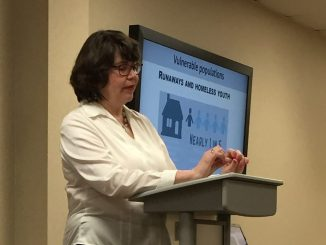 Pam Strickland shares sobering details of human trafficking in North Carolina. Photo: Kay Whatley