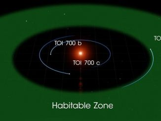 This illustration of TOI 700 d is based on several simulated environments for an ocean-covered version of the planet. Source: Image credit: NASA Goddard Space Flight Center