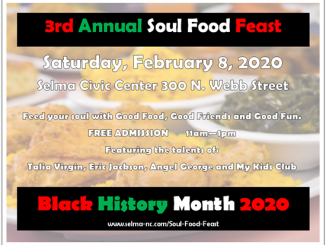 Soul Food Feast 2020 flyer. Source: Town of Selma, North Carolina