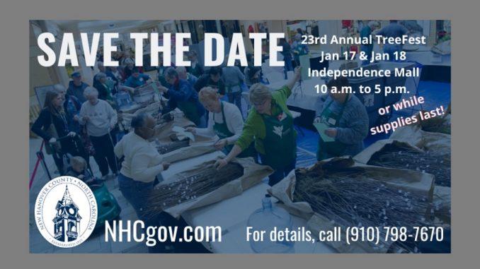 TreeFest 2020 notice. Source: New Hanover County, North Carolina