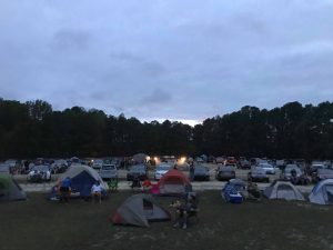 A 2019 camping night at Raleigh Road Outdoor Theatre. Source: Emily May