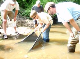 Volunteers at the Smith Creek stream. Source: Bill Crabtree, Town of Wake Forest