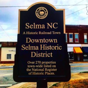Downtown Selma Historic District sign. Source: Cindy Brookshire