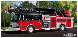 Pierce Ladder Truck. Source: Jonas Silver, Town of Knightdale