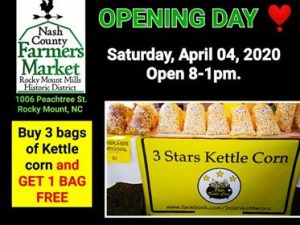 Nash County Farmers Market opening day kettle corn special. Source: Maria Garcia
