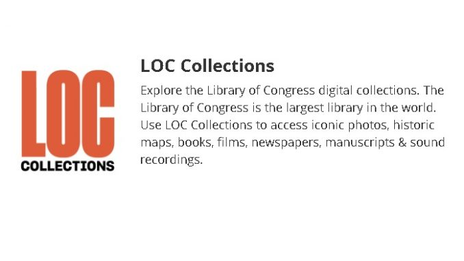 Library of Congress launches new LOC Collections App. Source: US Library of Congress