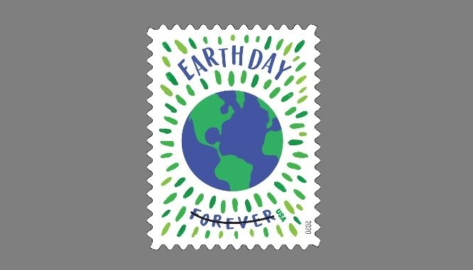 "Earth Day ""forever"" stamp. Source: US Postal Service"