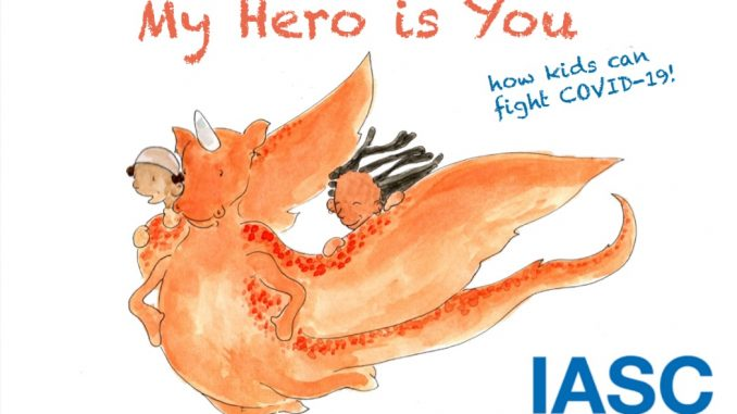 My Hero is You, How kids can fight COVID-19! English book cover. Source: World Health Organization