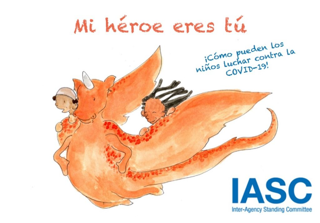 My Hero is You, How kids can fight COVID-19! Spanish book cover. Source: World Health Organization