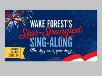 Wake Forest's Star-Spangled Sing-Along 2020, Source: Town of Wake Forest