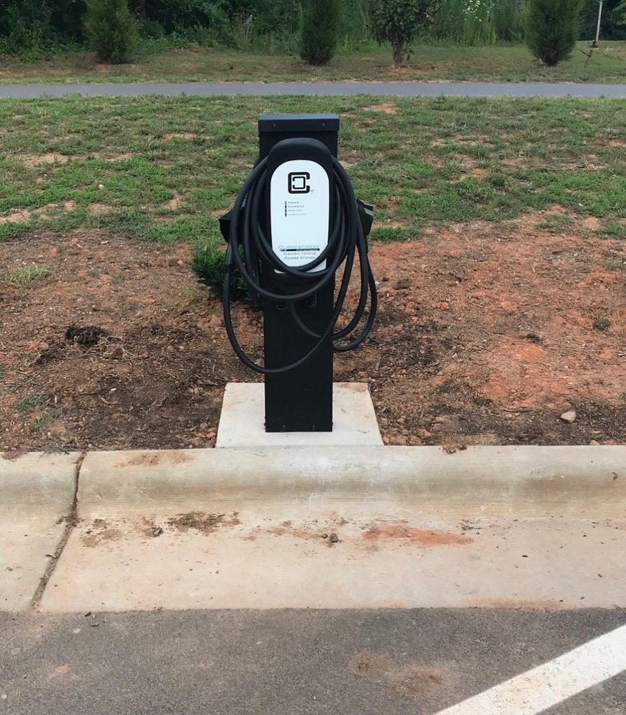 EV charging station. Photo: Ruben Wall, Town of Wake Forest