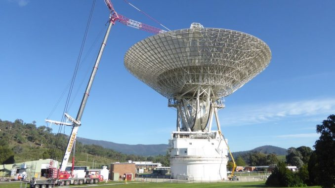 Located in Canberra, Australia, the Deep Space Network's Deep Space Station 43 spans 70 meters (230 feet), making it the largest steerable parabolic antenna in the Southern Hemisphere. Source: NASA/JPL-Caltech