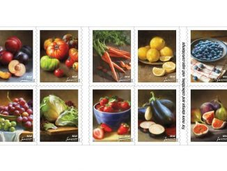 New Forever stamps feature fruits and vegetables. Source: US Postal Service