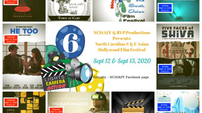 The virtual North Carolina South and East Asian Film Festival 2020. Source: NCISAFF