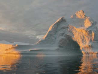 An iceberg in Disko Bay, near Ilulissat, Greenland. The massive Greenland ice sheet shed a record amount of ice in 2019, ending a brief period of more moderate ice loss. Credit: NASA/Saskia Madlener