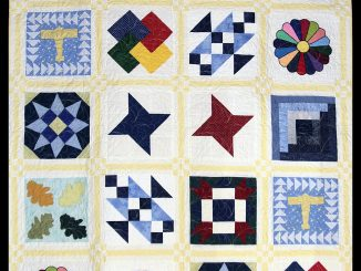 Quilt made for the FCAC raffle by the Quilting Ladies of Lake Royale and Clear Creek Quilting in Bunn, NC. Source: Ellen Queen, Franklin County Arts Council, Louisburg, North Carolina