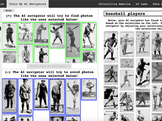 "A screenshot of the new Newspaper Navigator tool shows an image search for ""baseball players."" Source: Library of Congress"