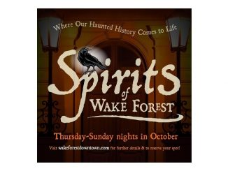 "Tickets for inaugural season of ""Spirits of Wake Forest"" ghost walk on sale, with proceeds benefitting Wake Forest Downtown, Inc. Source: Town of Wake Forest, North Carolina"
