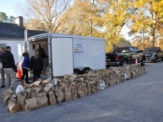 Photo of November 2019 Turkey distribution. Source: Wake Forest Police Department