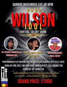 Wilson Idol 2020 Virtual Talent Show flyer. Source: Dr. Mildred Summerville