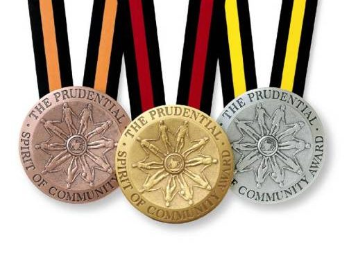 The Prudential Spirit of Community Awards medallions. Source: Prudential Financial