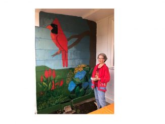 New Bunn Garden Club mural by NC Artist Diane Cannon. Source: Source: Sherrie Towne