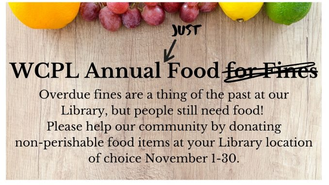 Just Food initiative 2020 flyer. Source: Wilson County Public Library