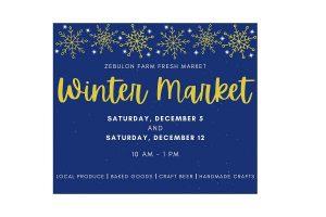 "Zebulon Farm Fresh Market ""Winter Market"" is December 5 and 12, 2020. Source: Town of Zebulon Parks and Rec, North Carolina"
