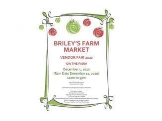 Vendor Fair 2020. Source: Briley's Farm Market
