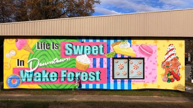 One of 3 murals planned for downtown. Source: Bill Crabtree, Town of Wake Forest
