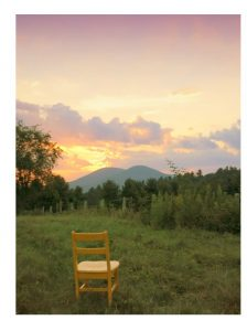 "Cover Art winner ""Chair Facing Mountain"" by Patricia Joynes"