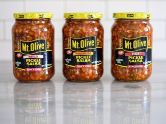 Spice up your favorite recipes with Mt. Olive's dill-licious new Pickle Salsa, available in Mild, Medium & Hot. Source: Mt. Olive Pickle Co.