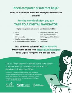 Digital Navigator flyer. Source: Amanda M. Gardner,Wilson County Public Library