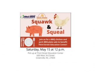 Squawk and Squeal Plate Sale is May 15, 2021. Source: Greenville Jaycees