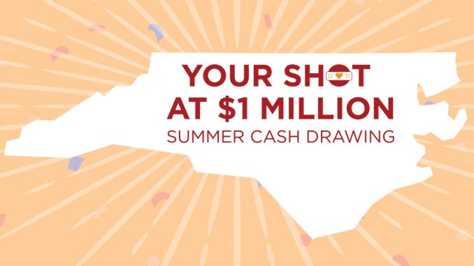 Your Shot at $1 Million Summer Cash Drawing. Source: NC Department of Health and Human Services