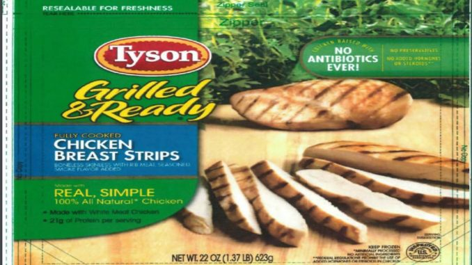 One of the many labels issued with the ready-to-eat chicken products recall. Source: USDA FSIS