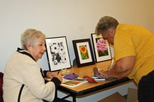 County Lines: A Literary Journal launch party 2015, Maureen Buck and Jackie Dove-Miller. Source: Franklin County Arts Council